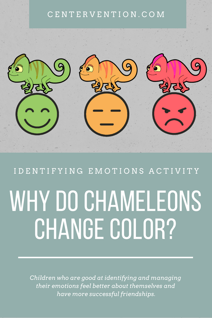 Colors And Their Moods identifying emotions activity: chameleon moods