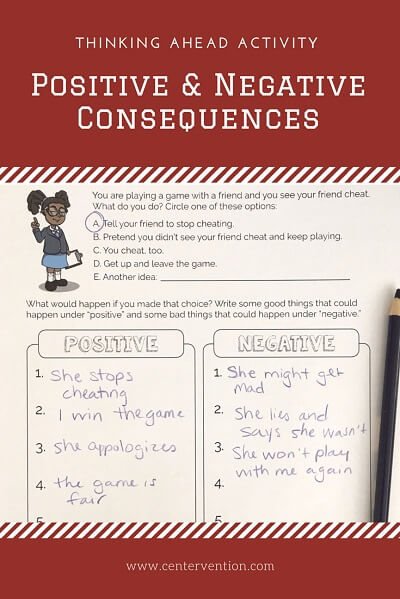 Think Ahead Activity: Positive and Negative Consequences