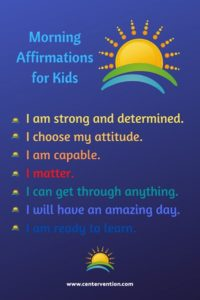 morning affirmations for kids