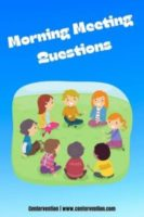 Morning Meeting Questions for Students in ES and MS