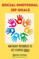 Social Emotional IEP Goals