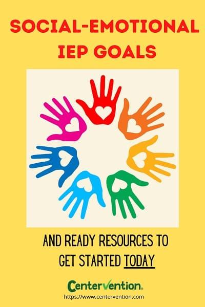 social emotional IEP goals pin image